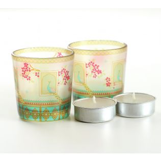 India Circus Tropical Island Living Tea Light Holder Set of 2