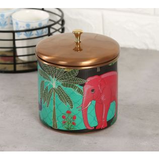 India Circus Tropical Paradise Storage Jar