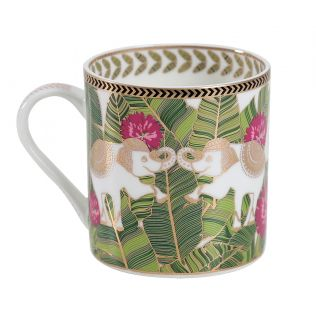 India Circus Tropical Tusker Coffee Mug Set of 6