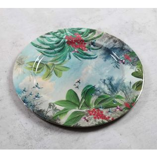 India Circus Tropical View Iron Decor Plate