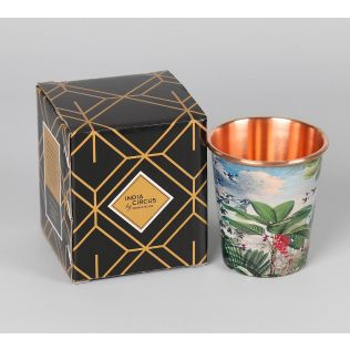 India Circus Tropical View Small Copper Tumbler