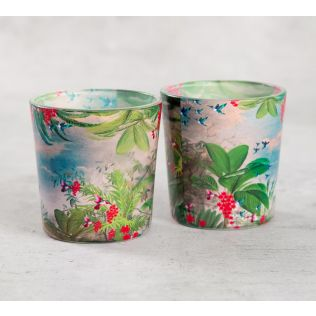 India Circus Tropical View Tea Light Holder