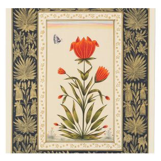 India Circus Tulip Butterfly Handmade Poster