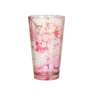 India Circus Tusker Romance Glass Tumbler