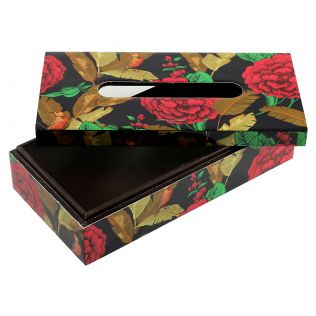 India Circus Violet Bayrose Romance Tissue Box Holder