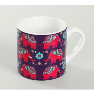 India Circus Violet Mastodon's Jamboree Espresso Mug