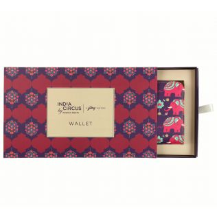 India Circus Violet Mastodon's Jamboree Ladies Zipper Wallet