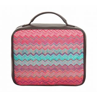 India Circus Waves of Chevron Cosmetic Bag