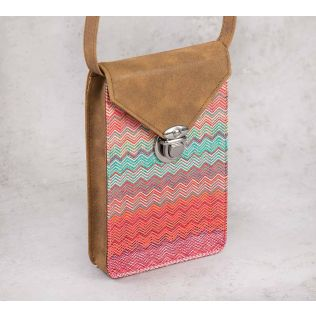 India Circus Waves of Chevron Mobile Sling Bag