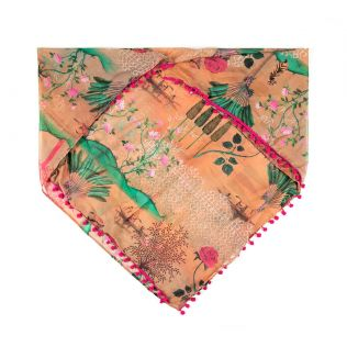 India Circus Whimsical Sundarban Stole