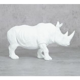 India Circus White Rhino Calf Figurine