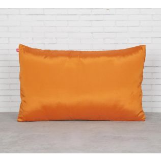 India Circus Yellow Pucker Rectangle Satin Blend Cushion Cover