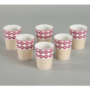 India Circus verdure mystery Chai Glass (Set of 6)