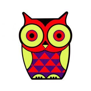 Peeking Owls MDF Fridge Magnet