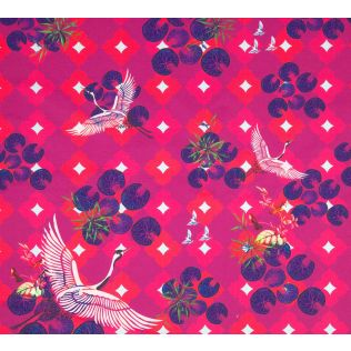 Red Paradise Fabric