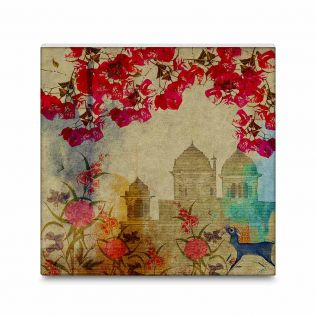 Palaces in Paradise Canvas Mounted Wall Art