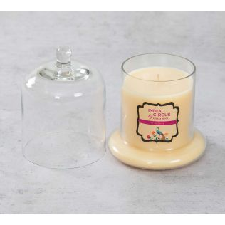 India Circus Vanilla Bean Glass Jar Scented Candle