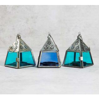Vibrant Pyramid Lanterns