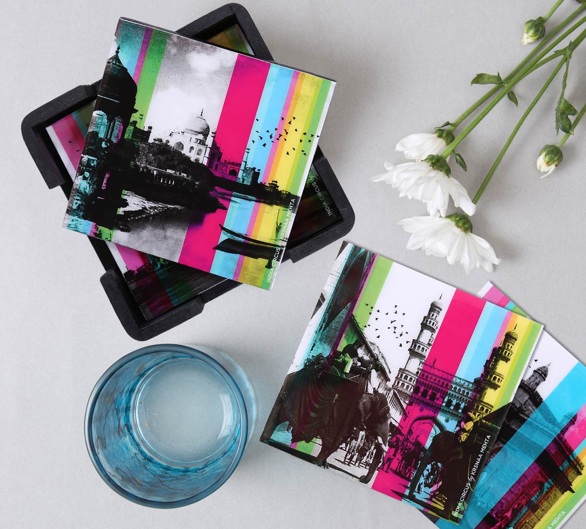 Agra Daily MDF Table Coaster Set of 6