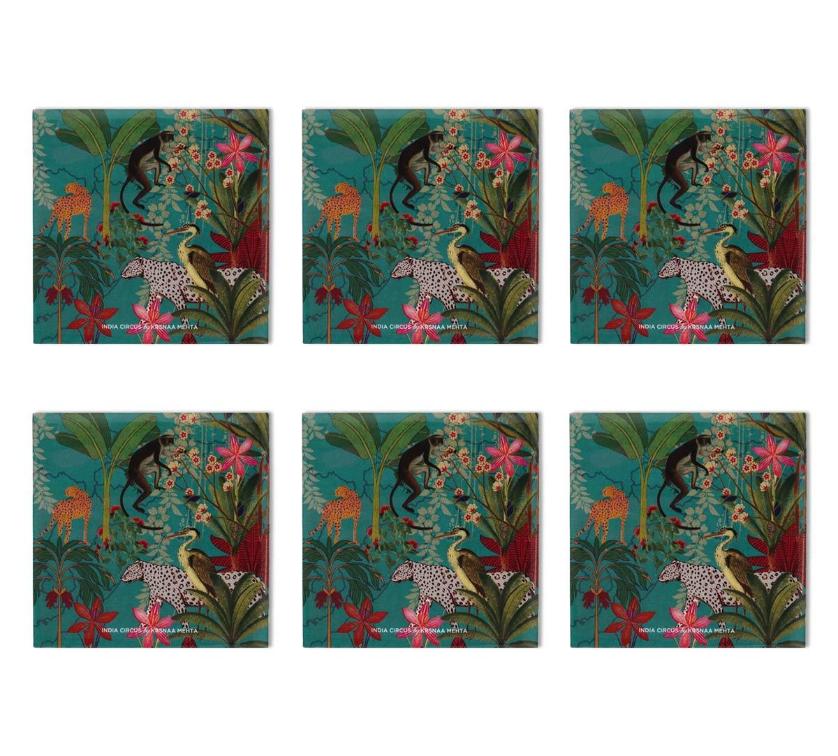 Animal Kingdom MDF Table Coaster Set of 6