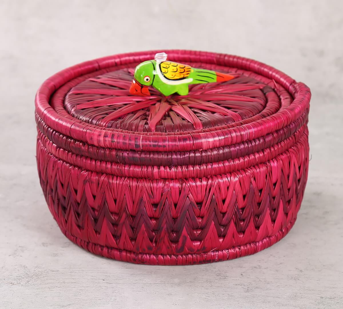 Badohi Hand Woven Purple Basket