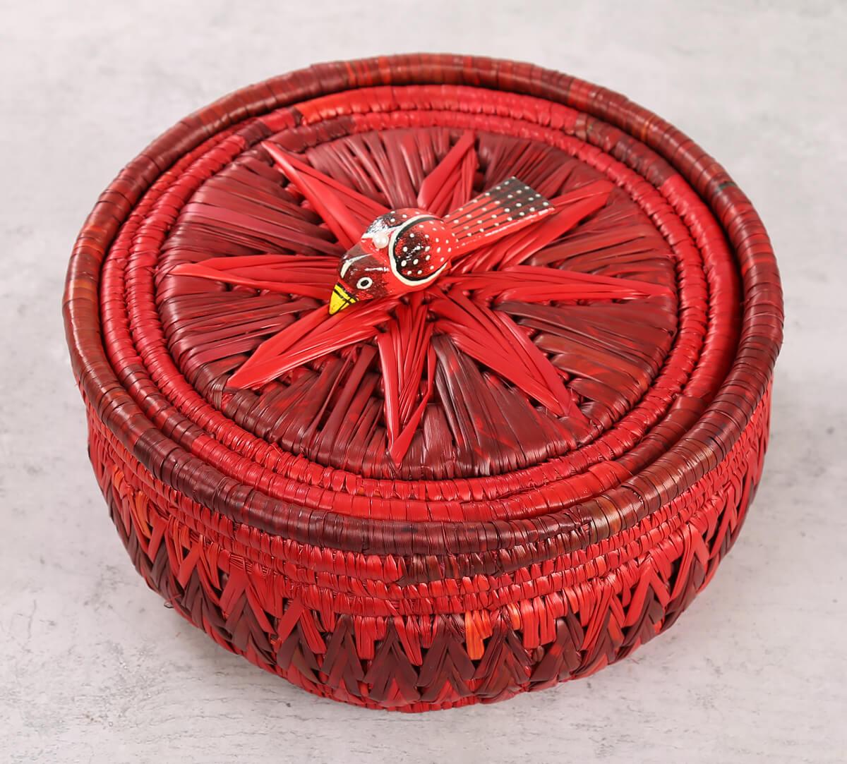 Badohi Hand Woven Scarlet Basket