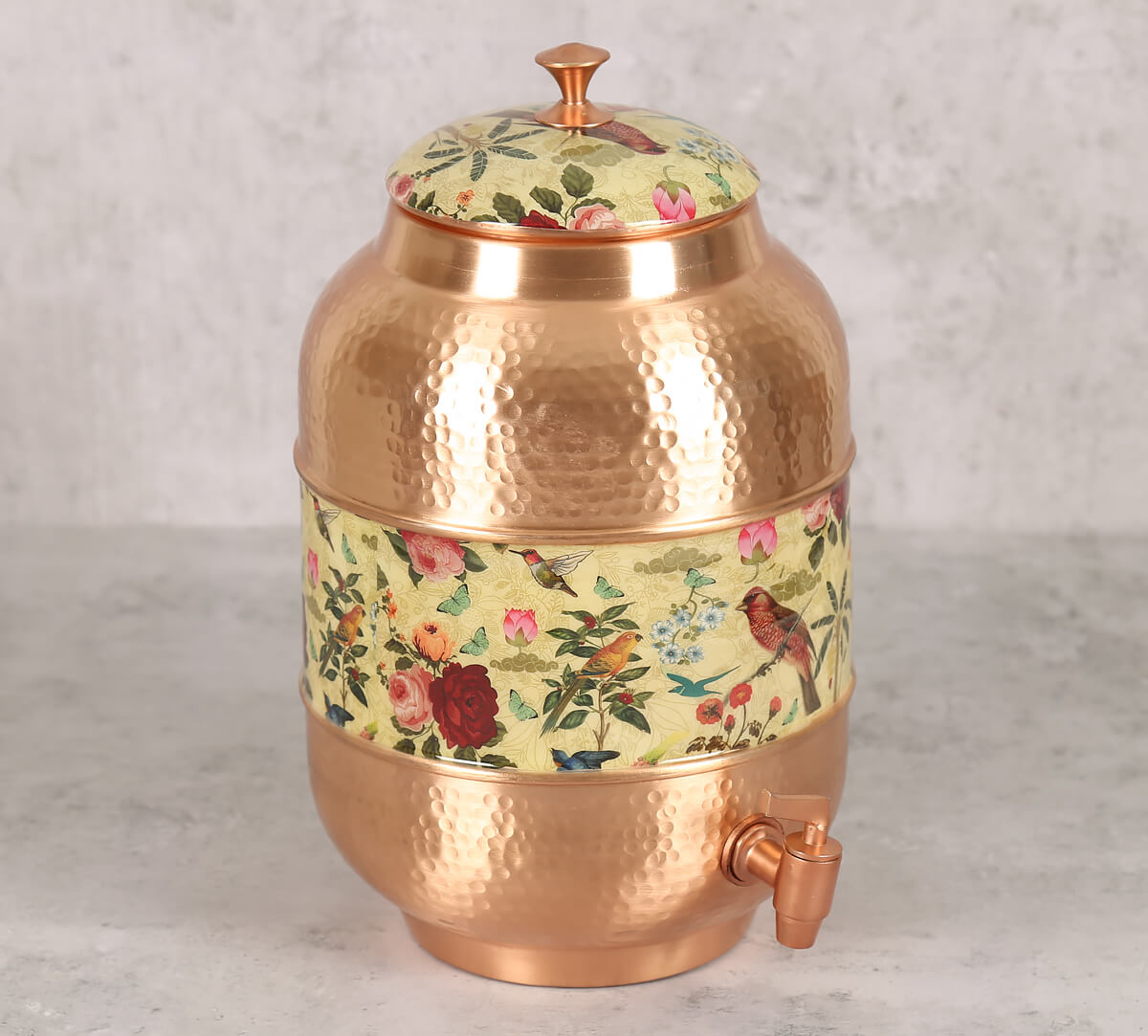 Bird Land Copper Water Dispenser