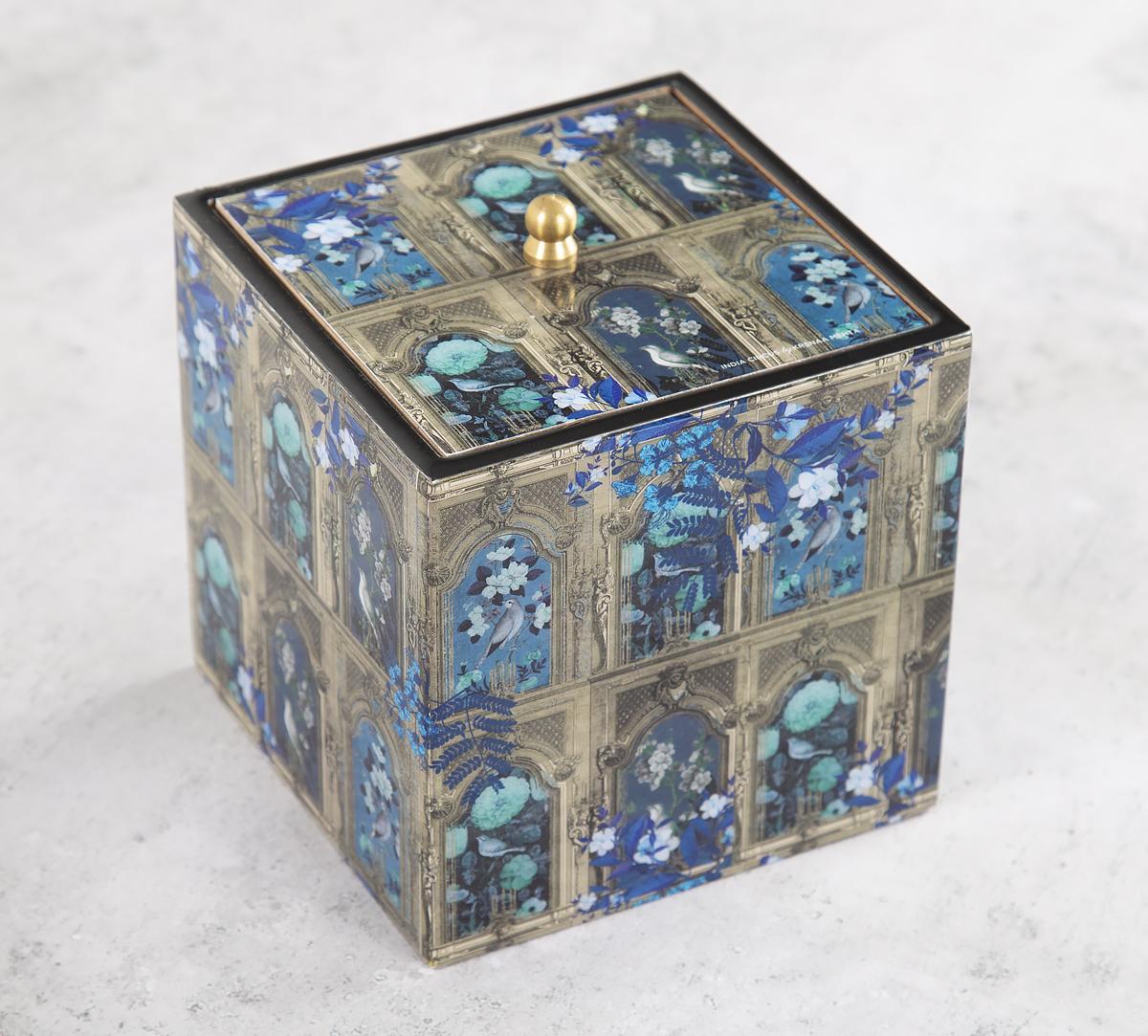 Blue Departed Memoirs Square Storage Box
