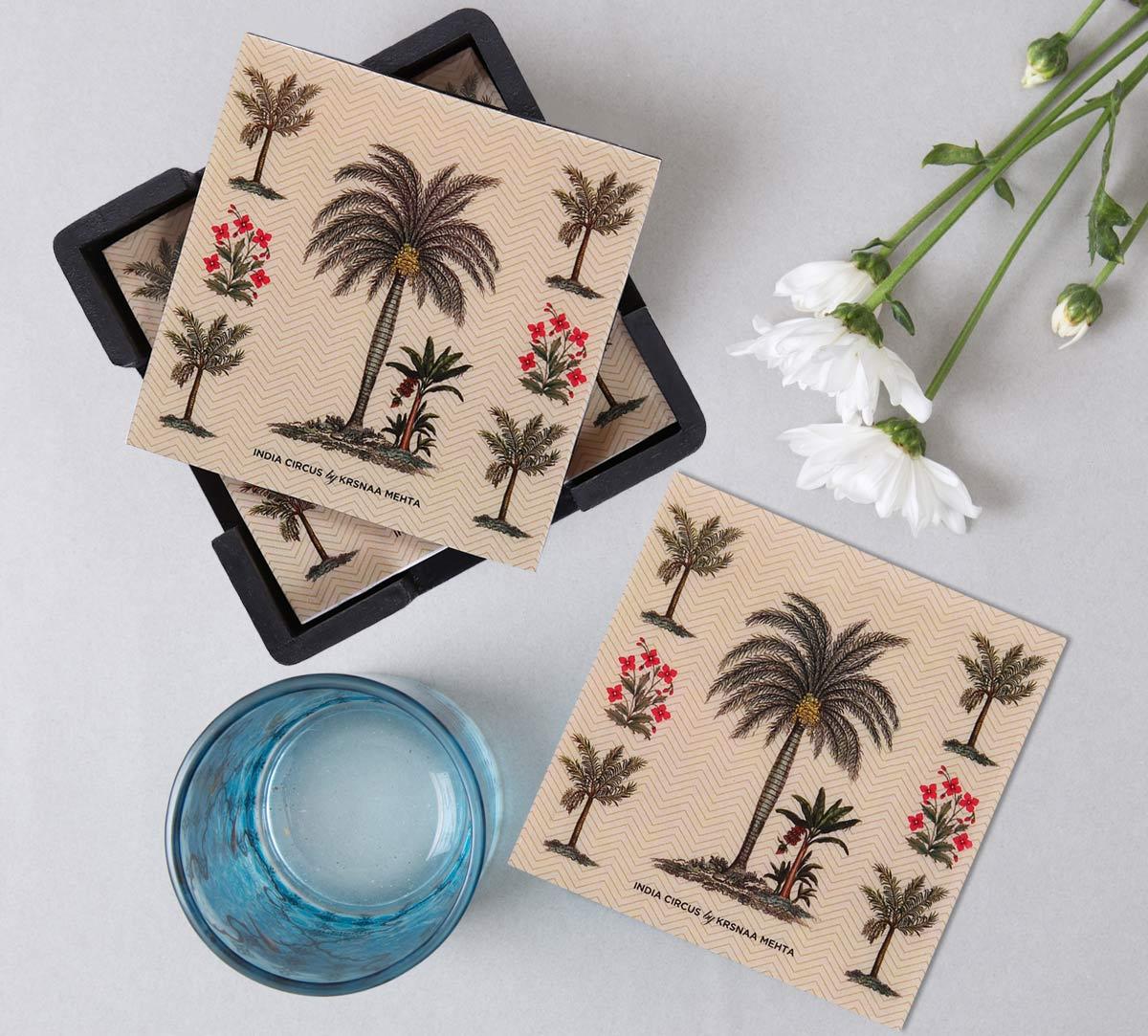 Chevron Palms MDF Table Coaster Set of 6