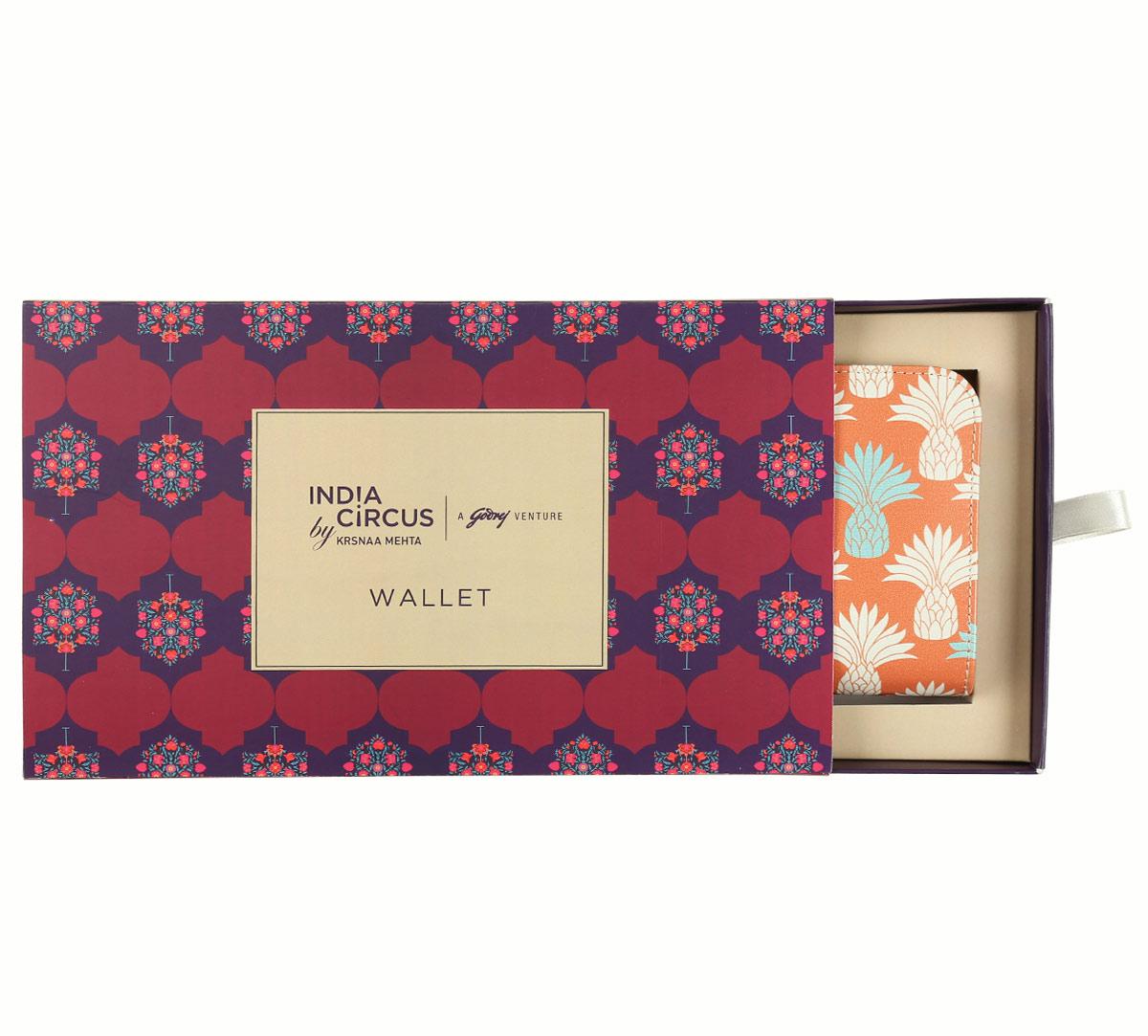 Colour Block Pineapple Ladies Zipper Wallet