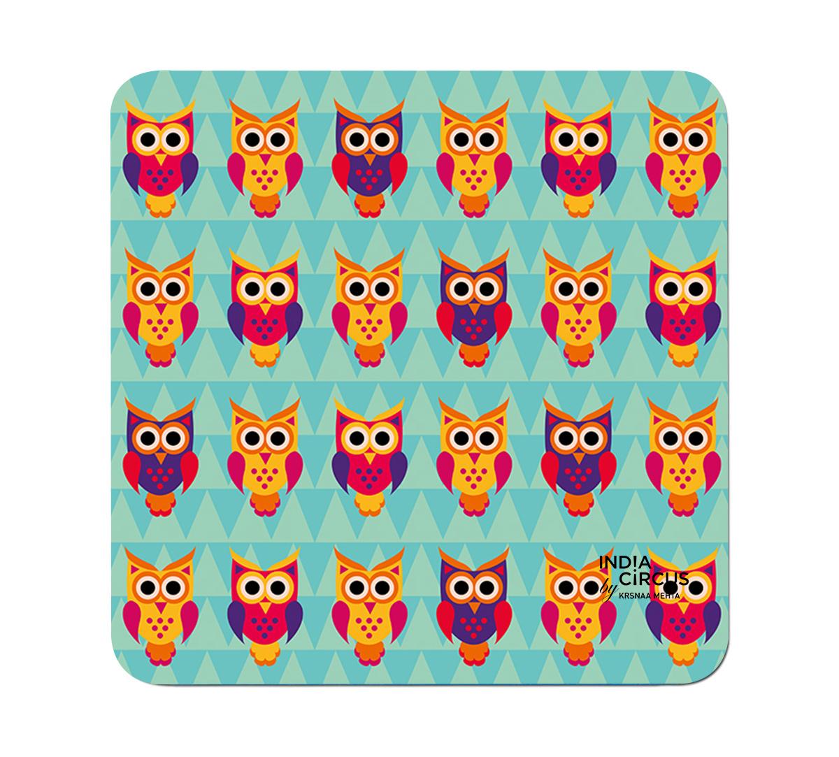 Disco Hedwig MDF Table Coaster (Set of 6)