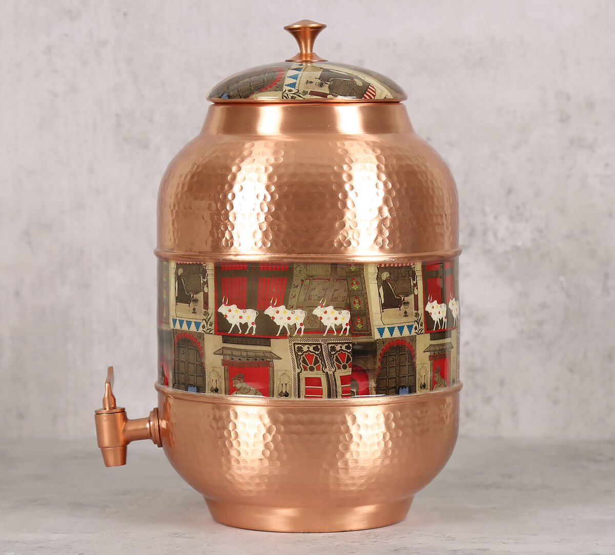 Doors Of Mystical Wonder Copper Water Dispenser
