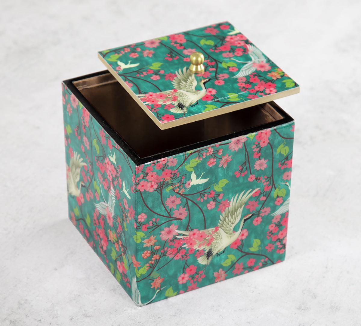 Flight of Cranes Square Storage Box