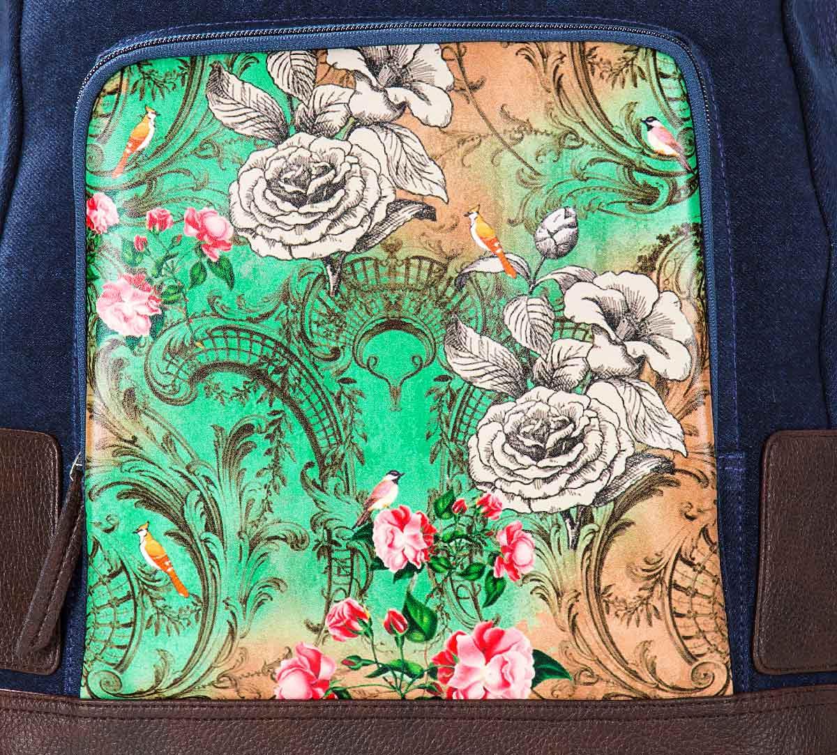 Rosette Flutter Denim Backpack