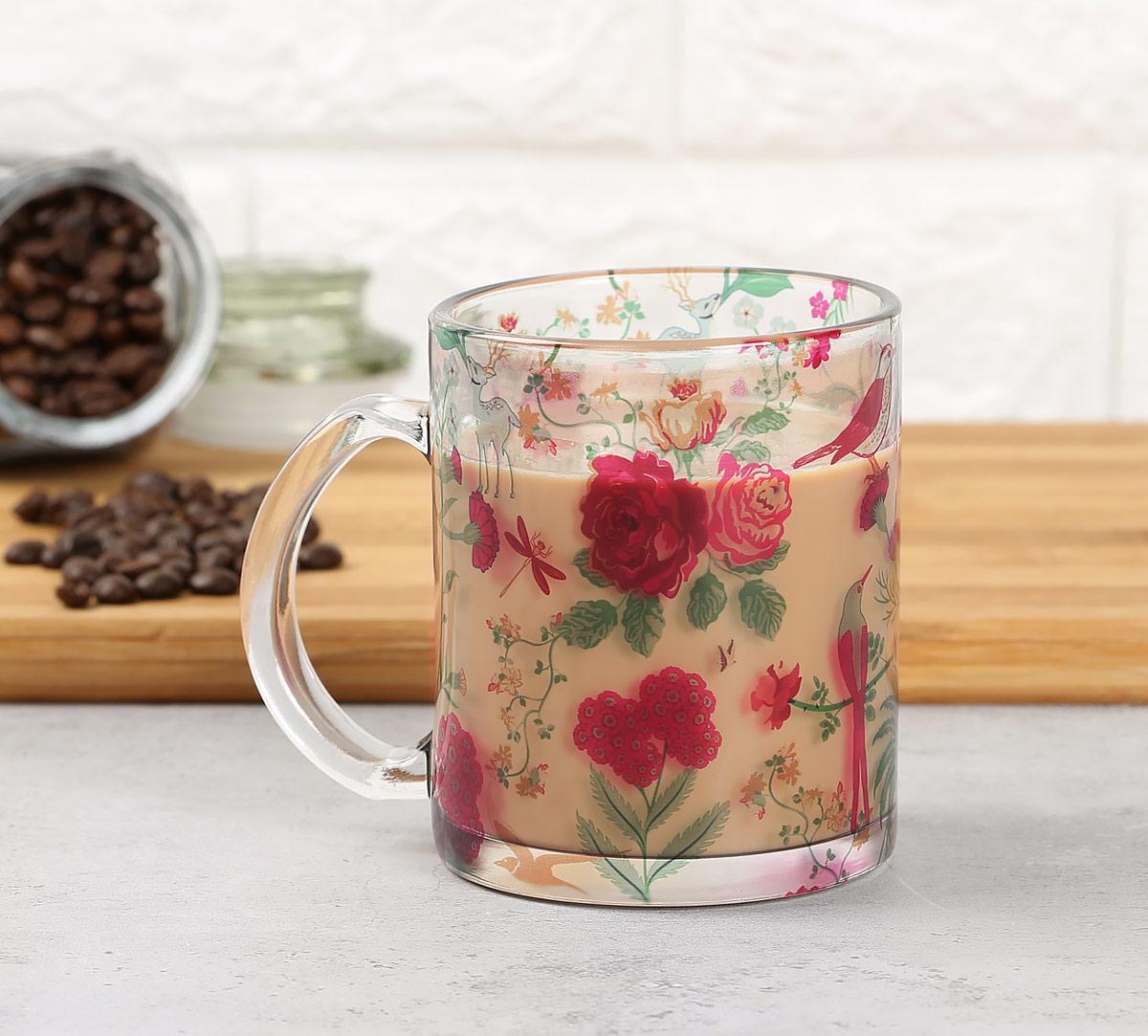 Floral Galore Glass Mug
