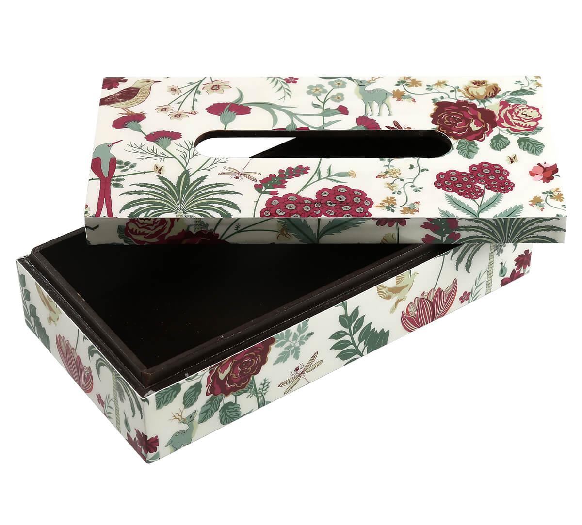 Grey Floral Galore Tissue Box Holder