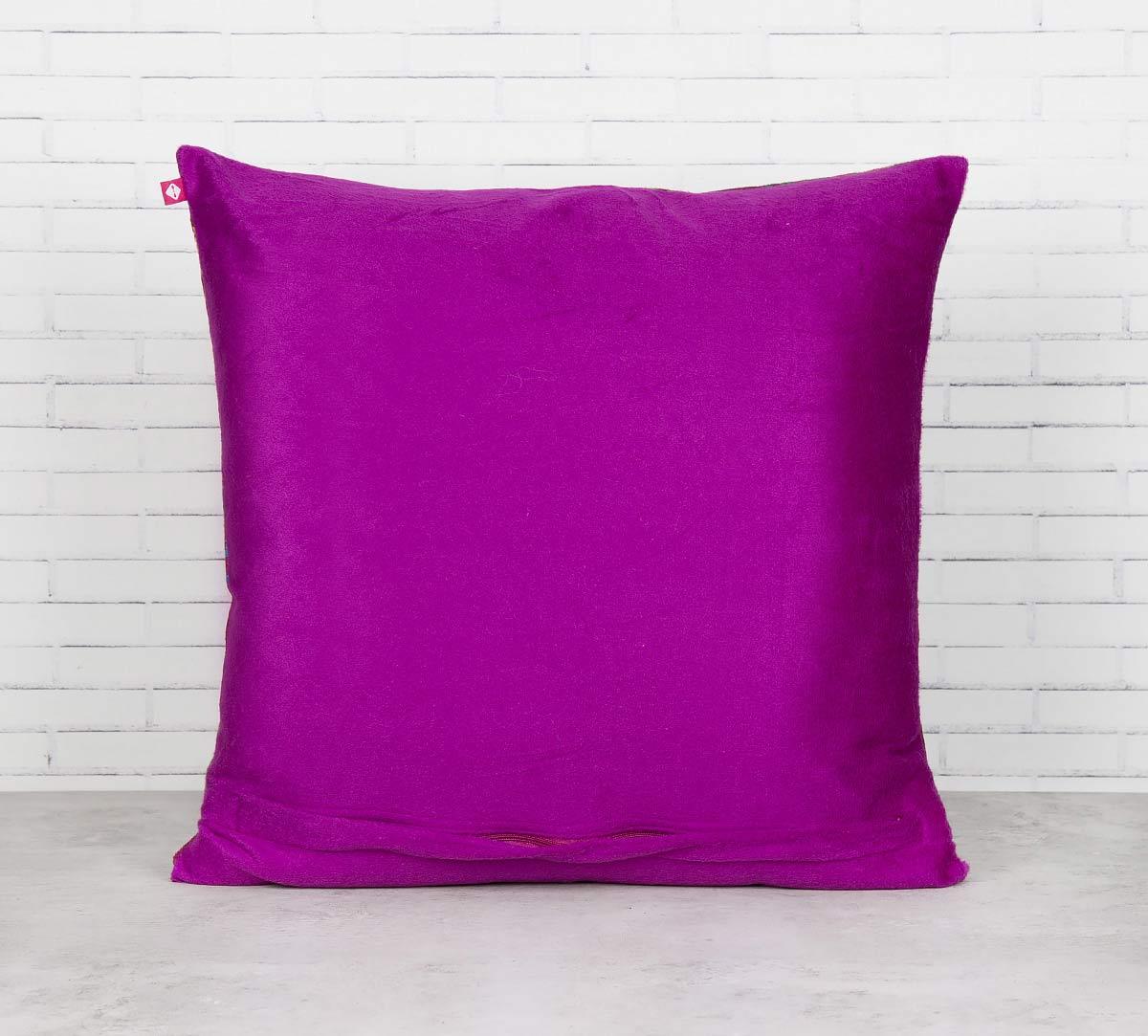 Jam Lake Florist Blended Velvet Cushion Cover