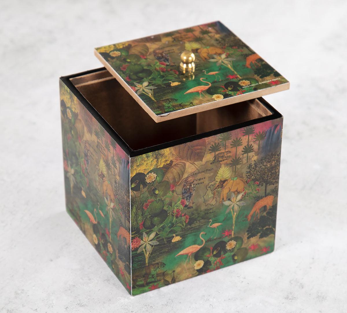Mapping Animals Square Storage Box