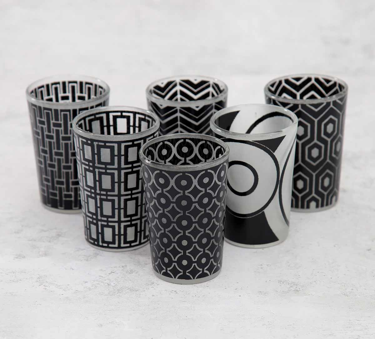 Monochrome Monologue Moroccan Glasses Set of 6