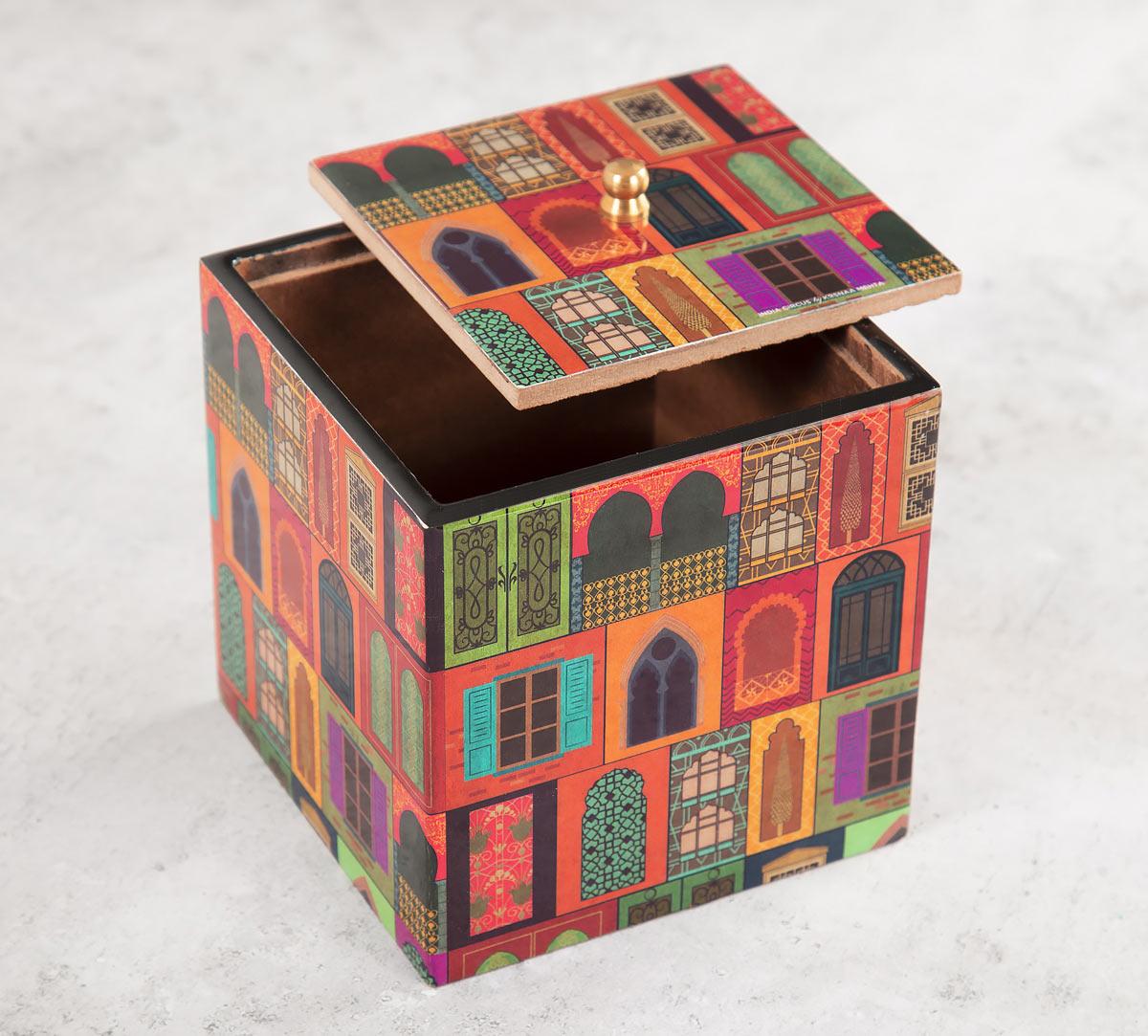 Mughal Doors Reiteration Square Storage Box