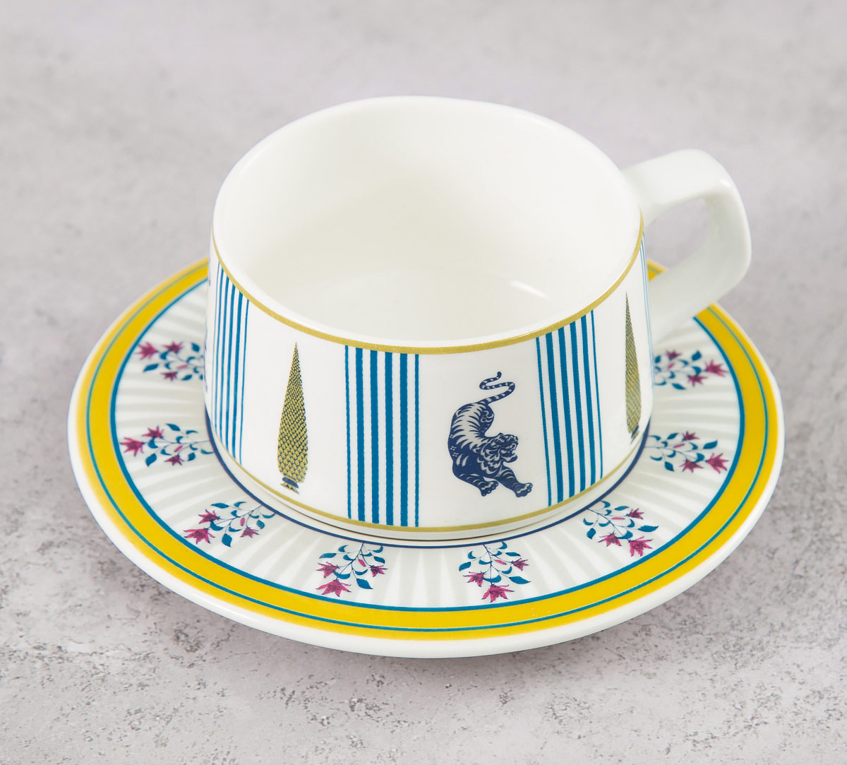 Mystical Garden Cup and Saucer (Set of 6)