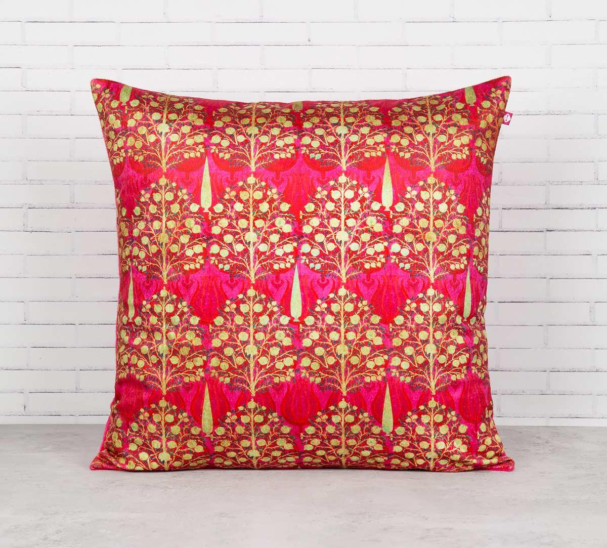 Mystical Pomegranate Blended Velvet Cushion Cover