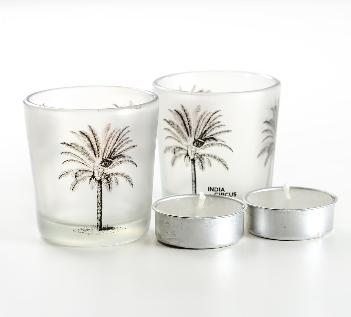 Palm Parade Tea Light Holder Set of 2