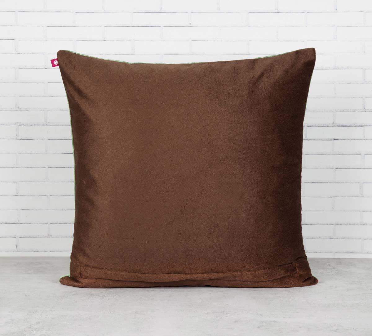 Palmeria Conifer Reiteration Blended Velvet Cushion Cover