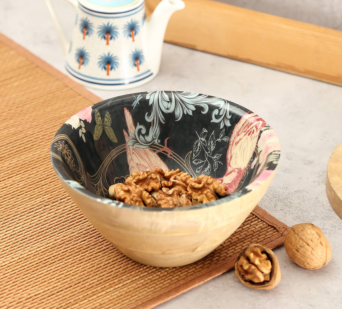 Passerine Calling Wooden Bowl