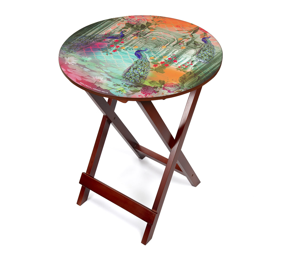 Peacock Dwar Round Side Table