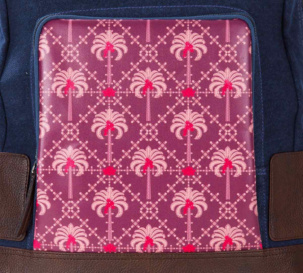 Poly Palmeria Denim Backpack