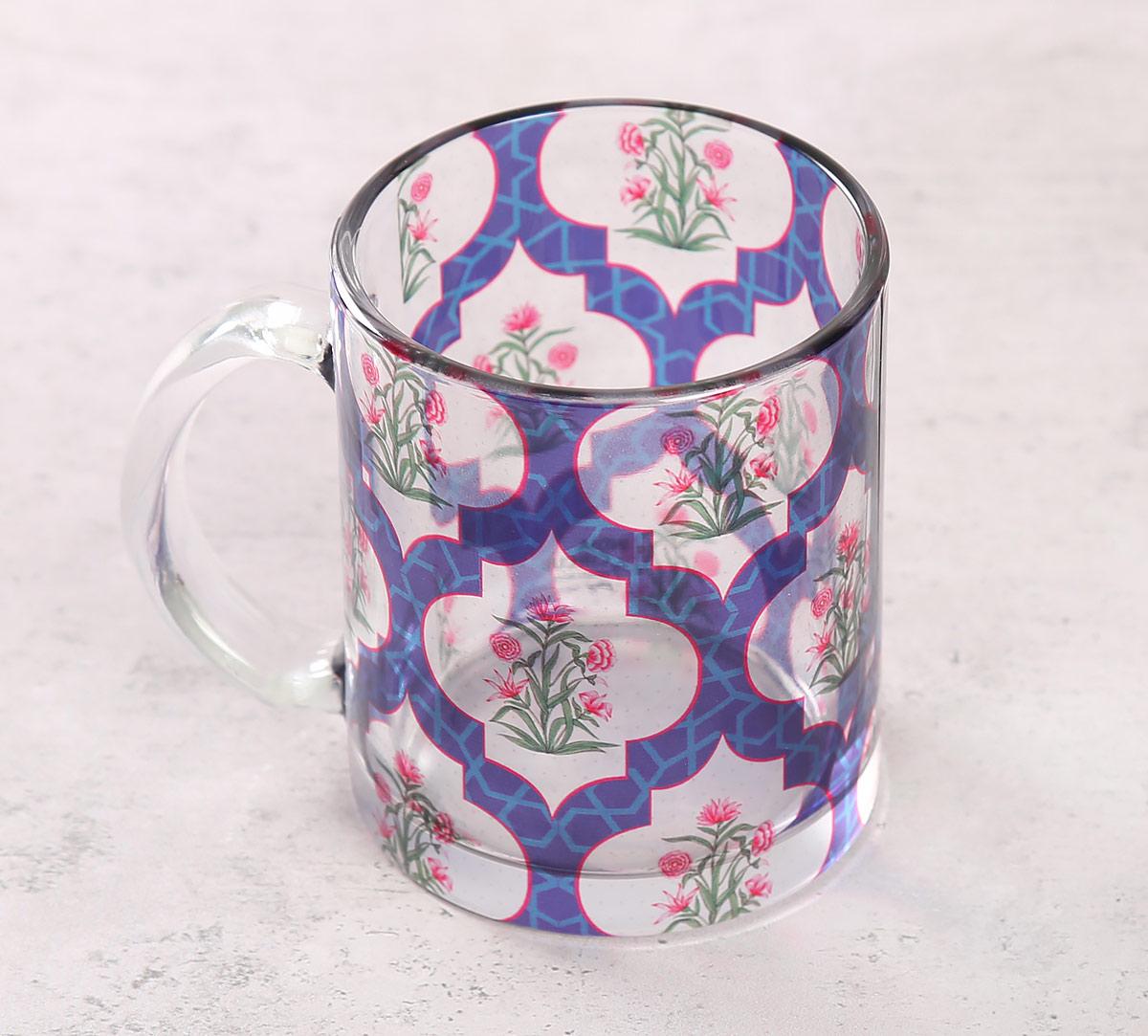 Poppy Flower Glass Mug