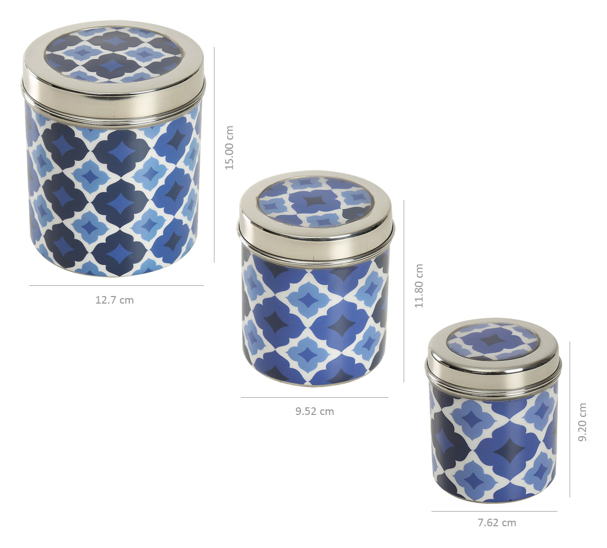 Prismatic Hexagons Steel Container (Set of 3)