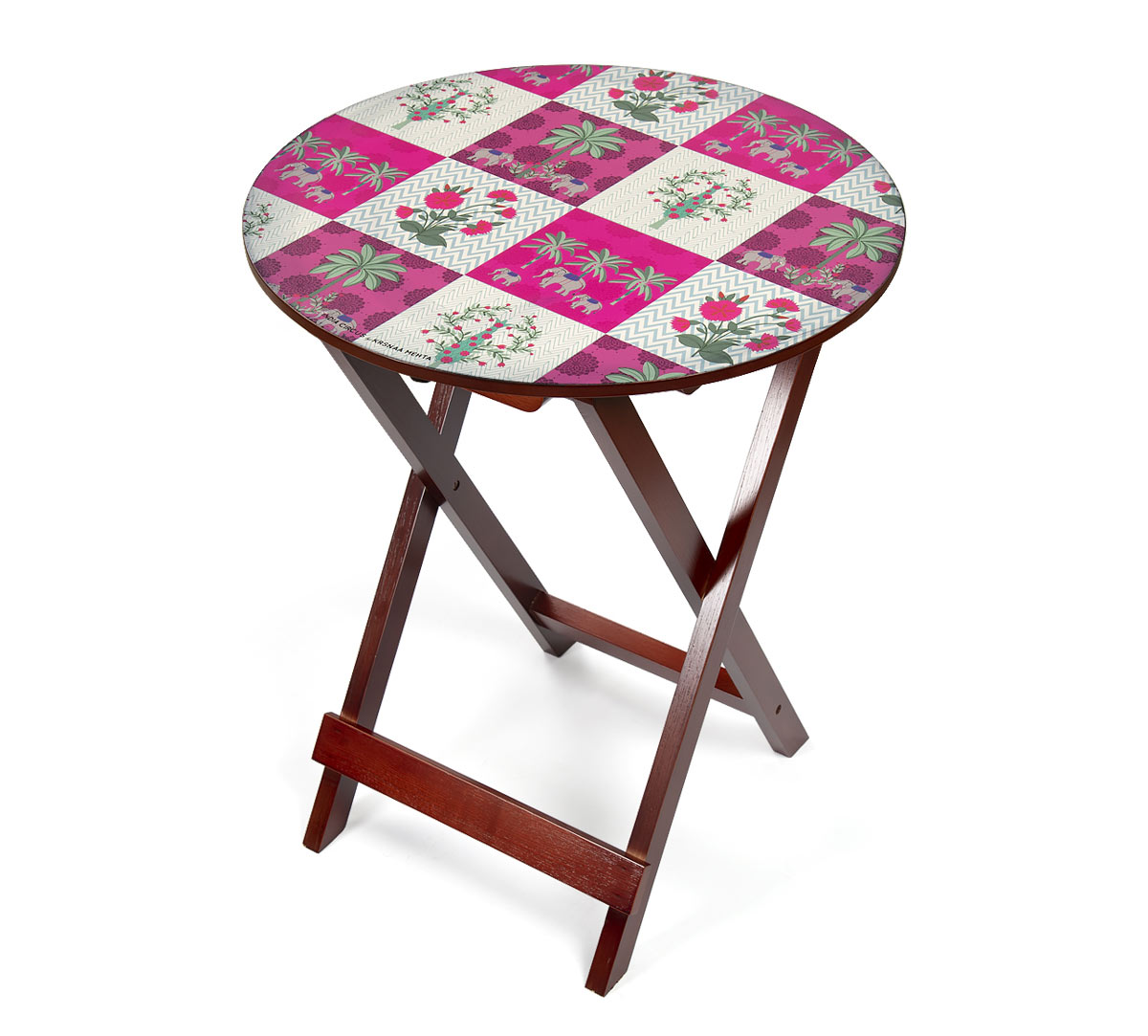 Quartet Checkers Round Side Table